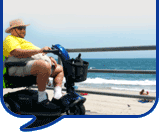 image of man on motability scooter