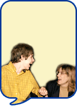 image of two people laughing