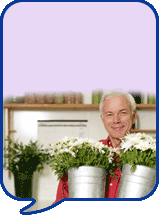 image of man with plants