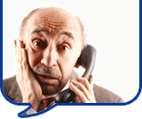 image of worried man on phone