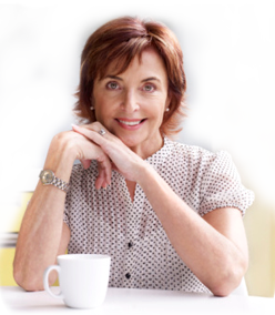 image of woman with cup of tea