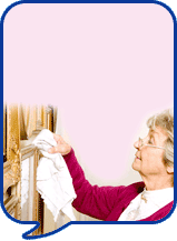 image of woman dusting