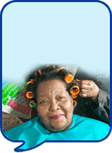 image of lady having hair done