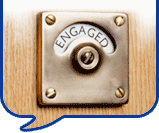 image of engaged toilet sign